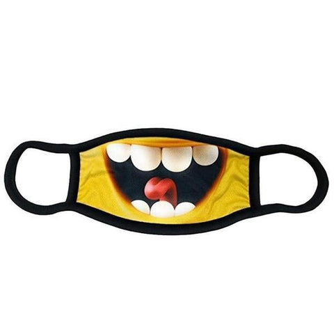 Funny Mouth Mask Cotton 3D Cartoon Dustproof Breathable Face Masks