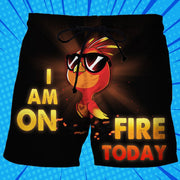 I'm On Fire Today - Custom Swim Trunks