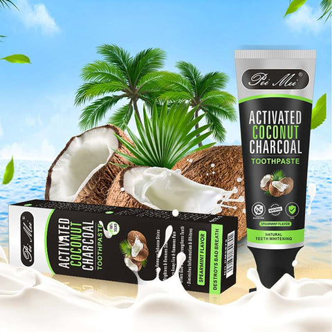 Natural Coconut Charcoal Teeth Whitening Toothpaste