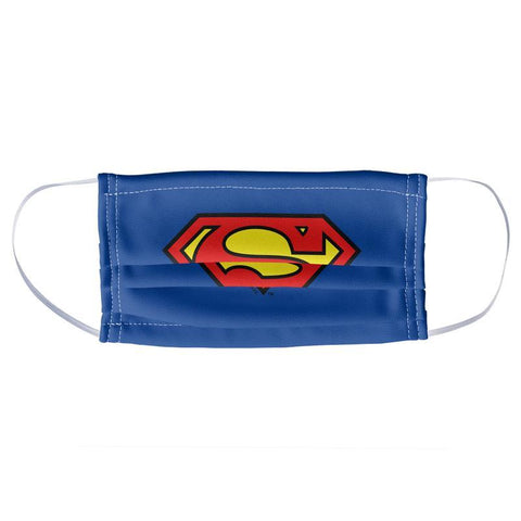 Superman Classic S Shield Logo Face Mask