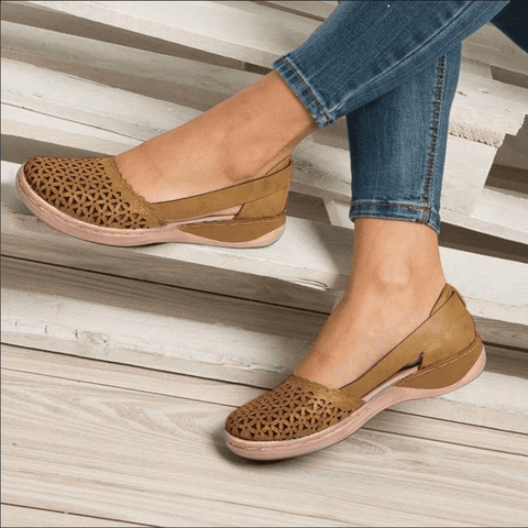 Round toe Hollow-out Breathable Flat Sandals for Women【$10 off when you spend $100 (Input code: D10)】