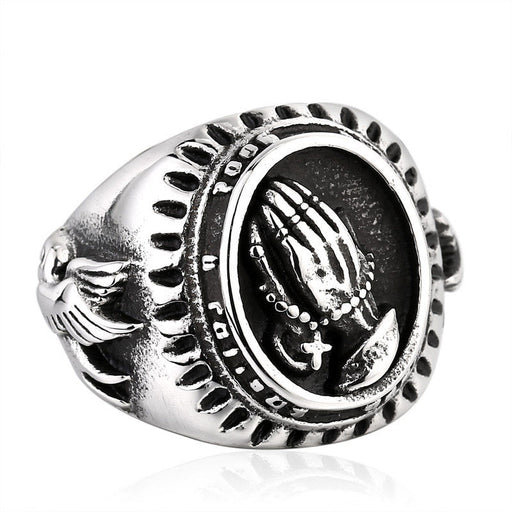 Christian love Virgin Mary Praying Hands Ring