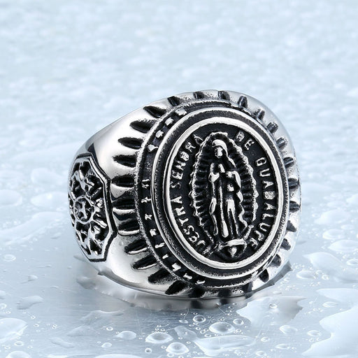 Vintage Virgin Mary Icon Ring