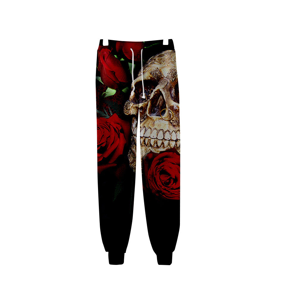 Skull  Graphic Evil Demon Jogger