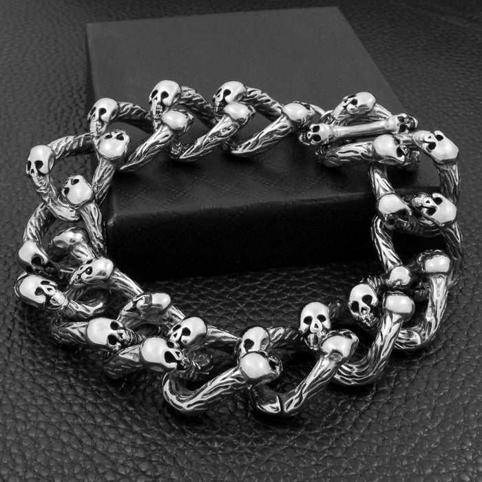 Skull Domineering Rock Punk Ghost Head Bracelet