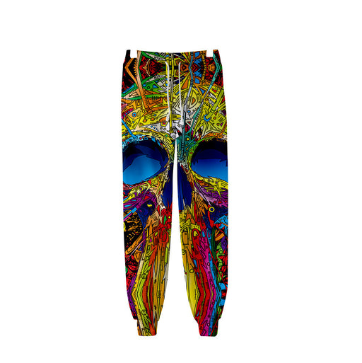 Sugar Skull  Graphic Evil Demon Jogger