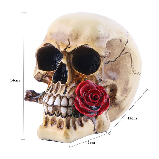Resin skull head Halloween props decoration home decoration tricky toy skull