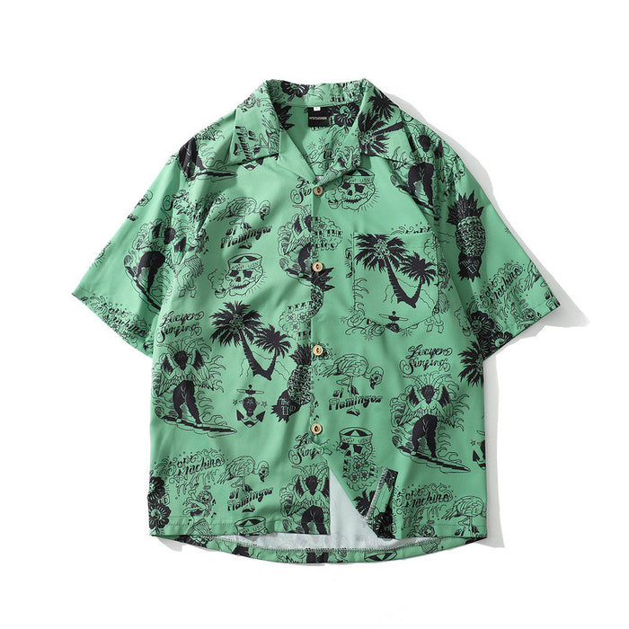 Skull Grunge Aesthetic Rock Graphic Oversized Shirt