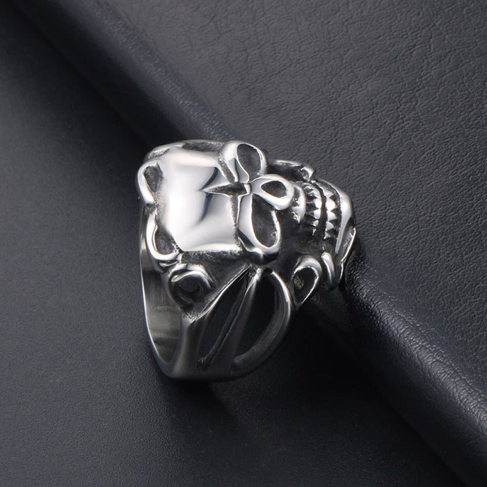 Vintage fashion original stainless steel skull ring