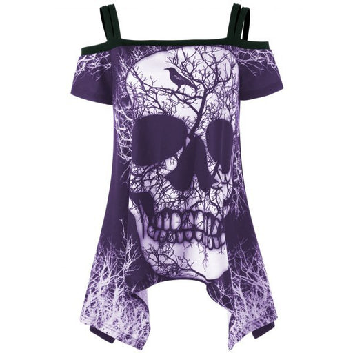 Plus Size Available - Skull Mythic Demon Old Times Medieval Gothic T-Shirt Dress