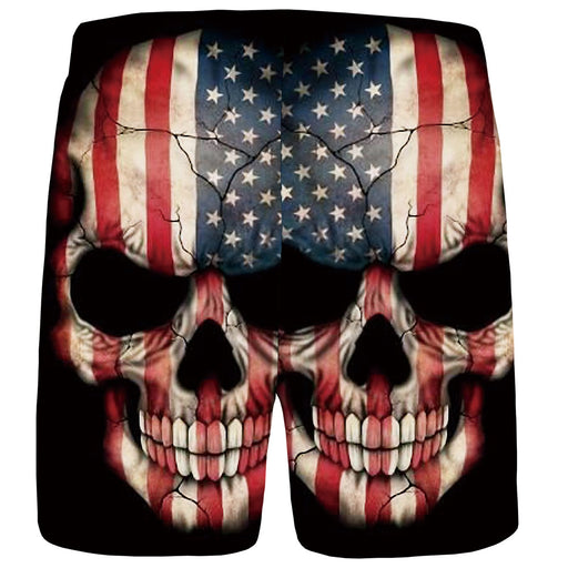 Skull shorts 3D digital print