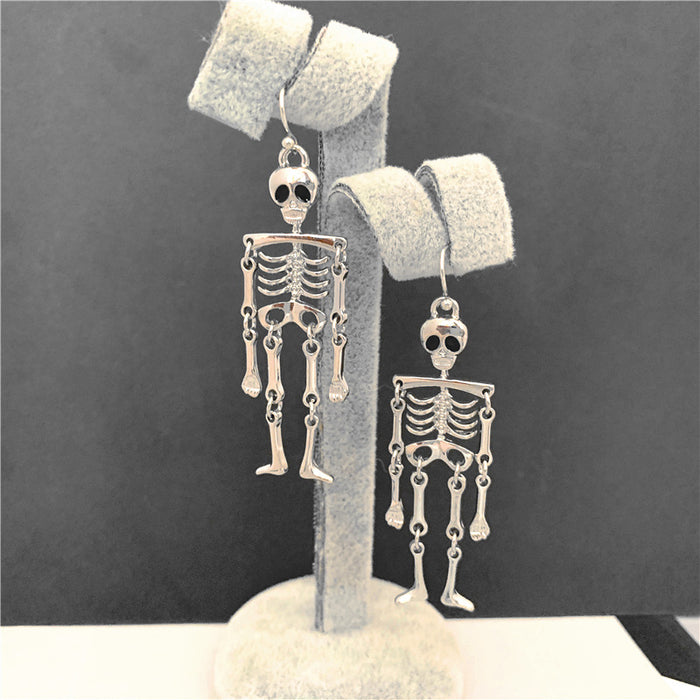 Halloween clever skull pendant earrings
