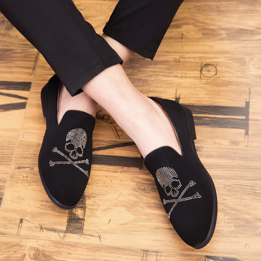 Skull English bean slipper slacker Brogues