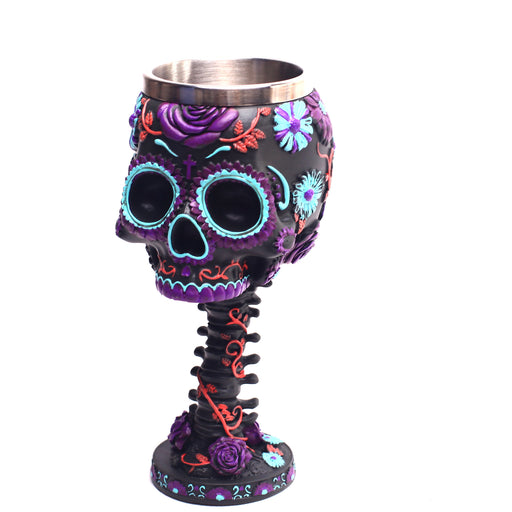 Sugar Skull Death Of Day Newborn Wine Glass Cup