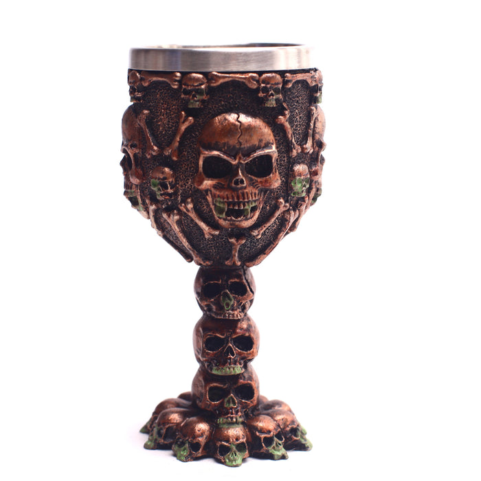 Skull Death Of Day Old Times Super Power Wine Glass Cup