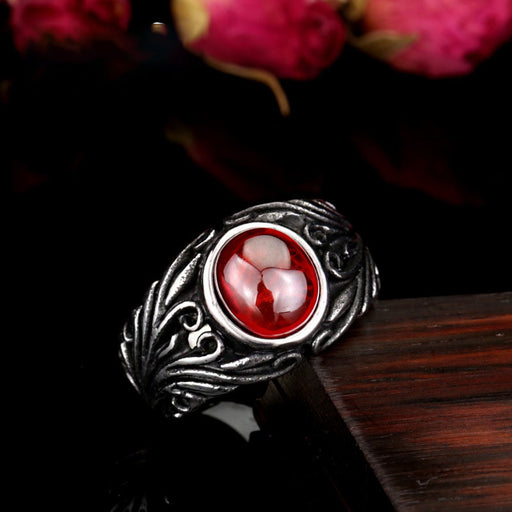 Men's vintage ruby ring