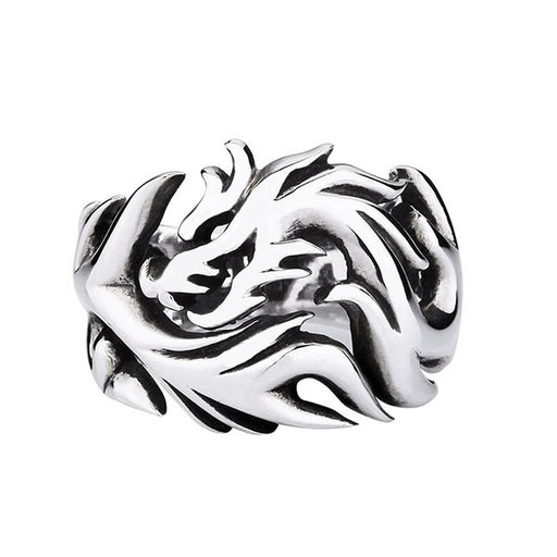 Retro personality men's supreme dragon opening ring
