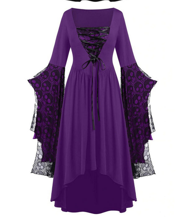 Skull Old Times Goth Mythic Rebirth Witch Costume Dress