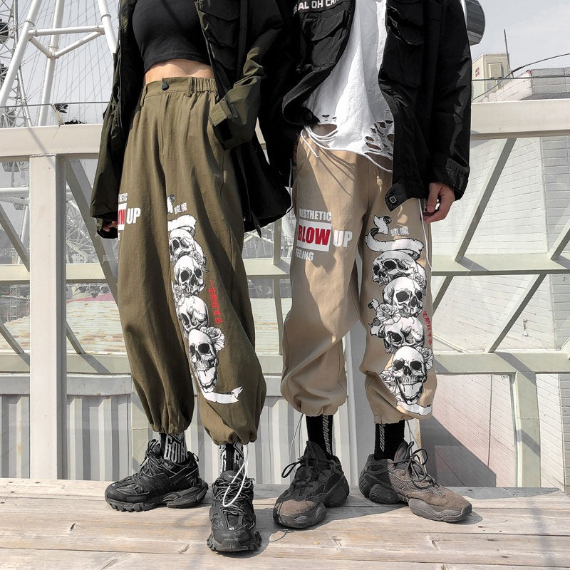Skull King Grunge Aesthetics Cool Pants