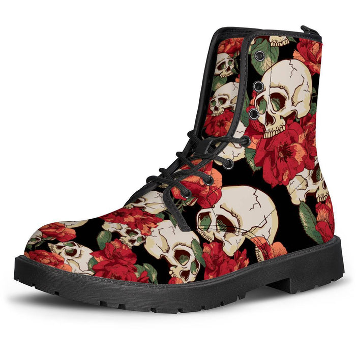 Red rose Skull woemn's Brogues