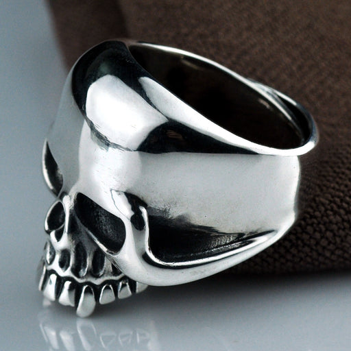 Domineering vintage personality men's skull sliver ring