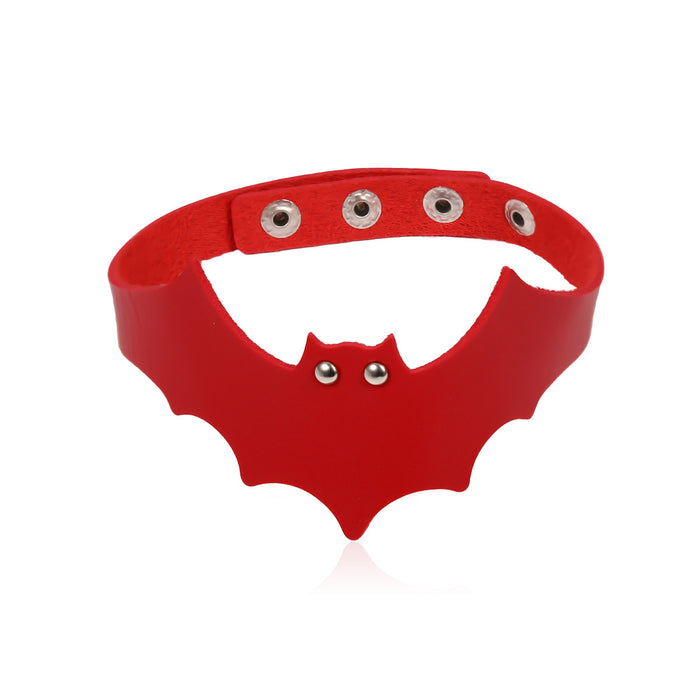 Retro Halloween bat skull mix with punk choker