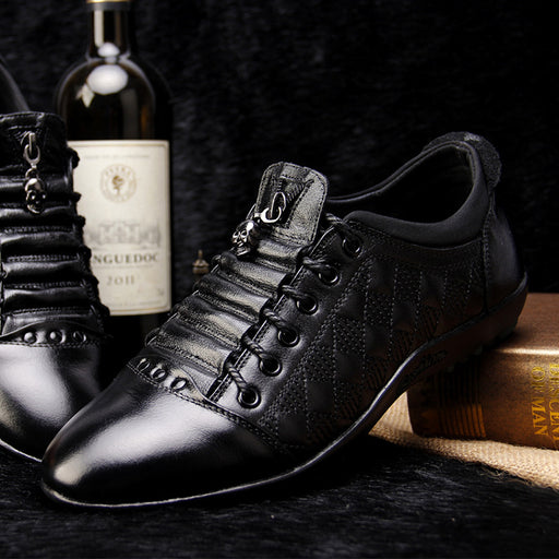 Skull ornament men's Brogues