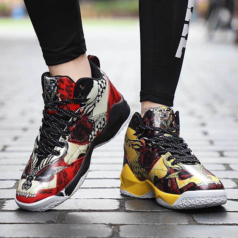 Skull Punk Rock Cool Street Asymmetric Sneaker