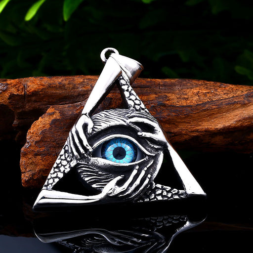 Hell Demon Eye Evil Hand Punk Pendant