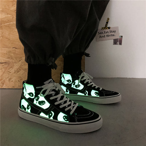 Men's graffiti glow-in-the - dark Korean version of harajuku sneakers