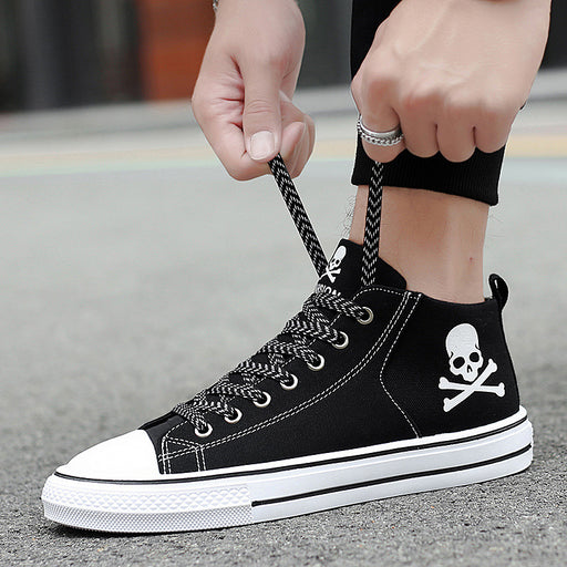 Graffiti skull Korean fashion Sneaker