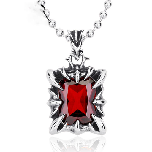 Domineering vintage ruby pendant