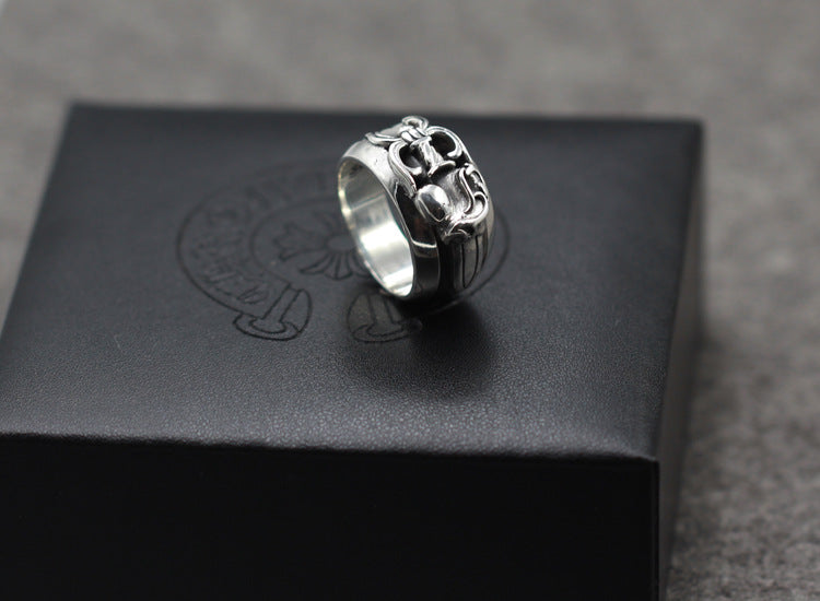 S925 sterling silver punk style holy sword ring