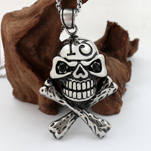 Personality Casting Skull Men's Domineering Skull Pendant, Halloween Gift Necklace