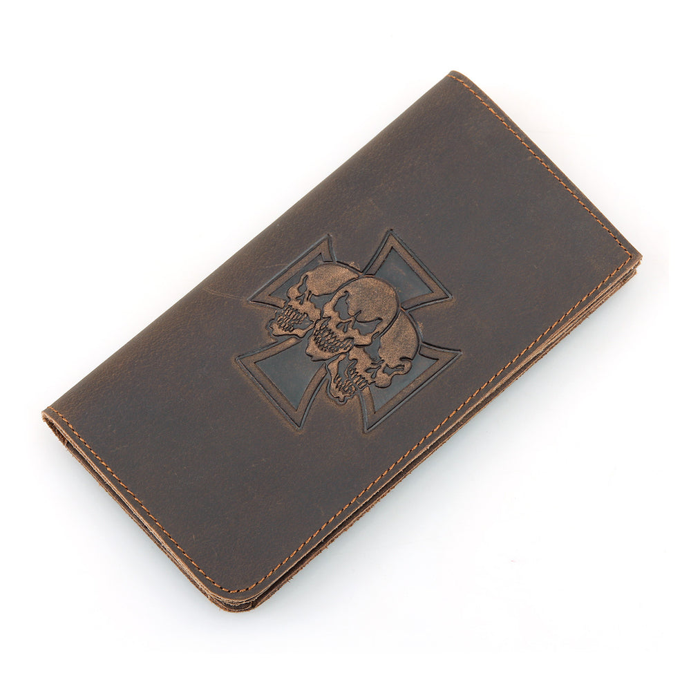 Skull Retro Leather Wallet