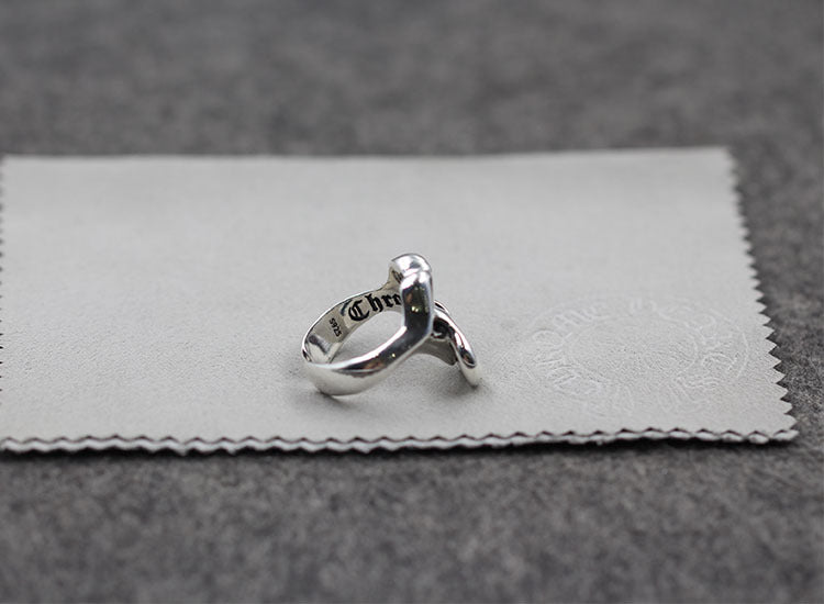 s925 sterling silver retro personality big tongue open ring