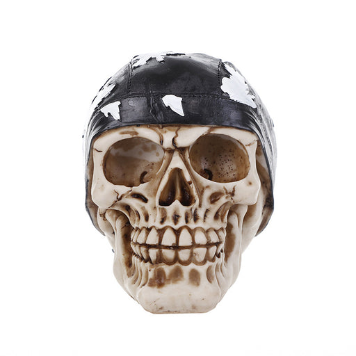 Retro gothic resin skull ornament