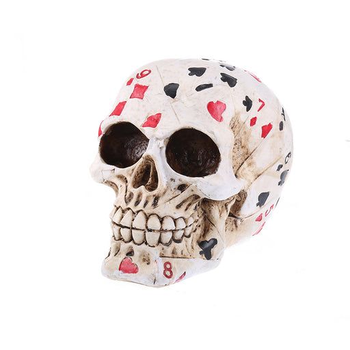 Poker skull resin skull crafts bar personality ornaments
