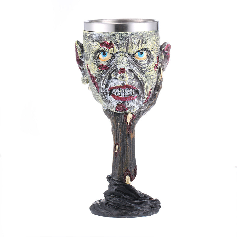 Skull stainless steel goblet 3D skull wine glass bar special wine glass