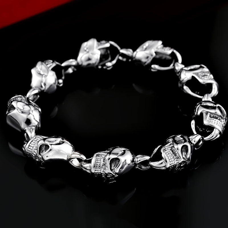 Men's Punk Skull Bracelet Personalized Three-dimensional Skull Bracelet