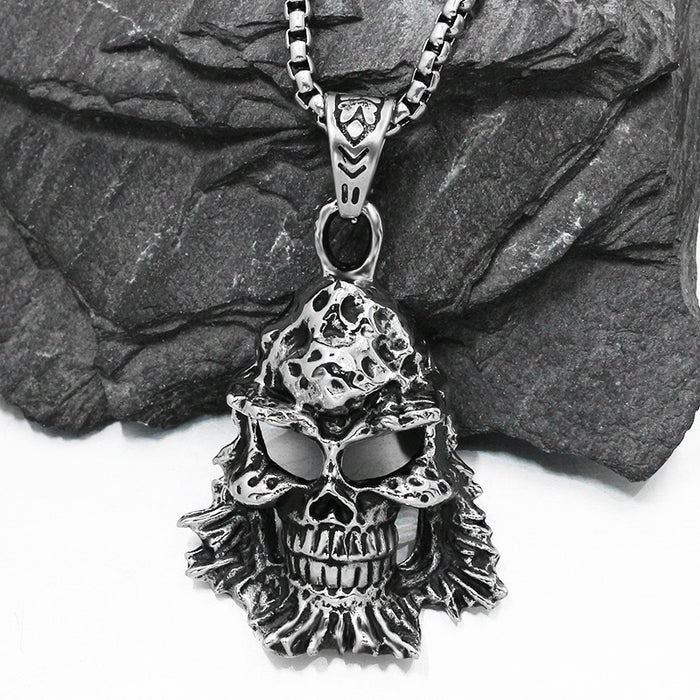 Skull General Ghost Head Vintage Pendant Ghost Toothy Punk Necklace Pendant