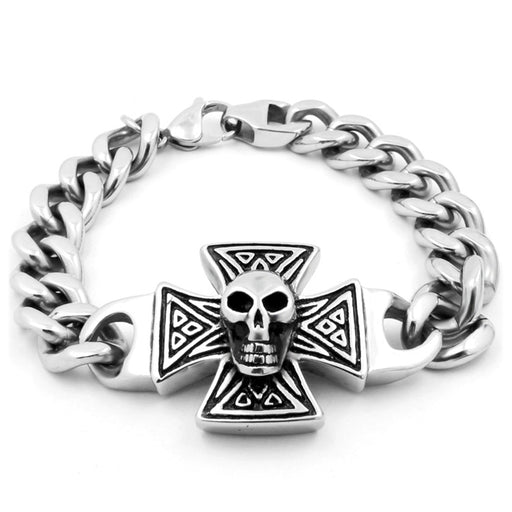 Cross skull bracelet fashion vampire head bracelet