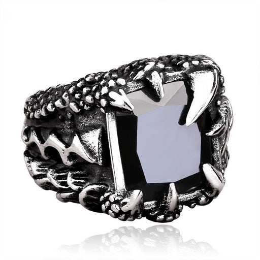 Men's personality domineering dragon claw ring