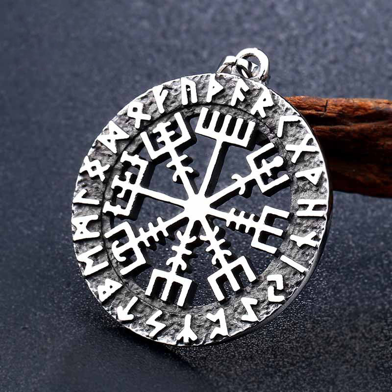 Viking mythical gods father Odin Run text amulet necklace