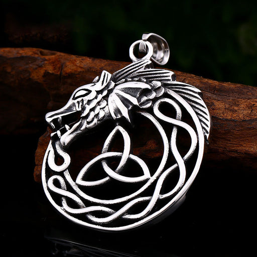 Dragon Head Viking Pendant Men's Necklace