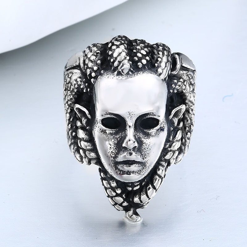 Snake Demon Medusa Ring