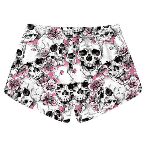 Skull digital print quick dry women's beach shorts