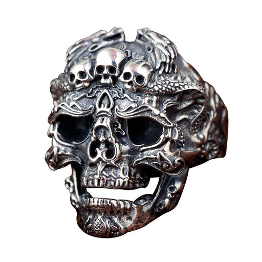 Retro swagger rock biker men hipster skull ring