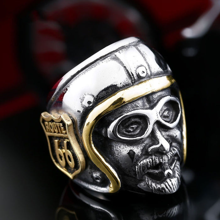 Biker party route 66 knight ring