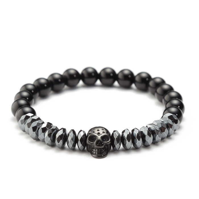 Skull King Punk Gothic Fashion Leather Bracelet
